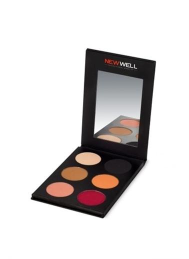New Well Porcelain Make-Up Eyeshadow NW 52 6 li Göz Farı Renksiz